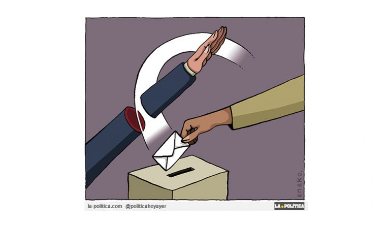 «Sal y vota» Viñeta Eneko Artículo Caracola