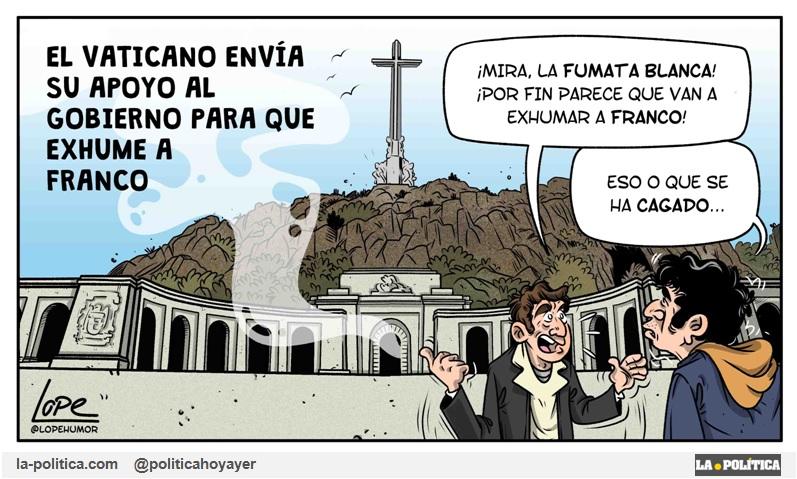 Ni Franco dio la orden de ser enterrado en el Valle de los Caídos ni su mujer lo quiso, fue una orden de Juan Carlos I