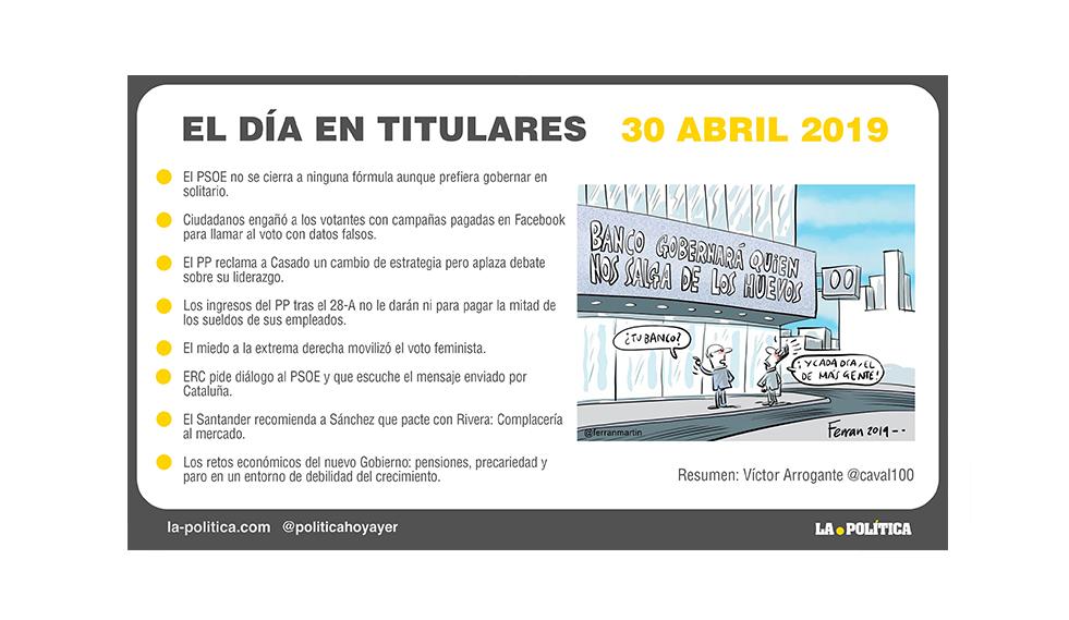30 de abril – 2019 El Día en Titulares