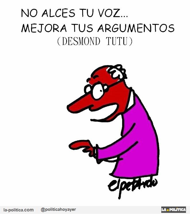 Viñeta de El Petrdo - Desmond Tutu