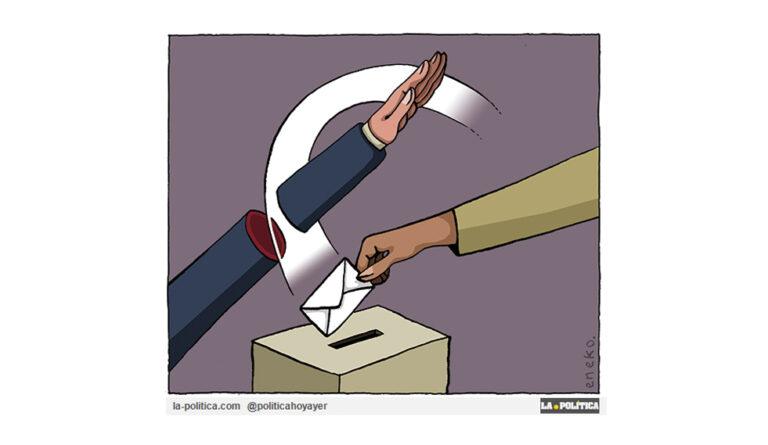 «Es el momento. Sal y Vota (II)» Viñeta Eneko Artículo Caracola