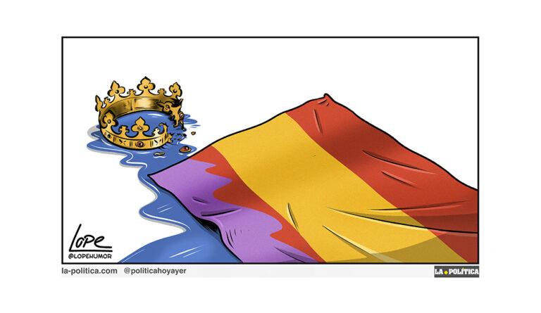 Construyendo la República; la cuestión social. Abril por la República (3) Viñeta Lope Artículo Víctor Arrogante