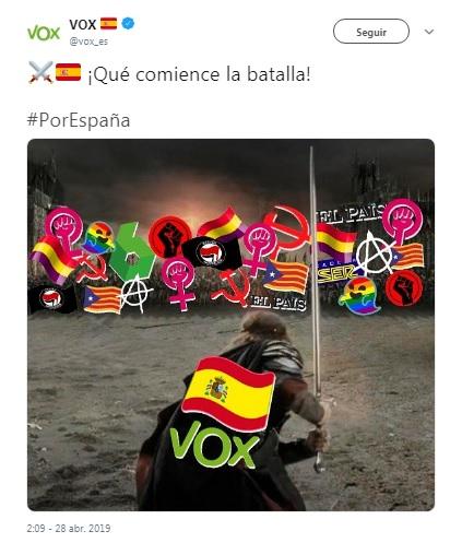 Tuits de Vox