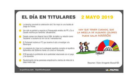 2 de mayo – 2019 El Día en Titulares