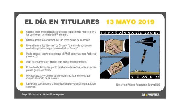 13 mayo – 2019 El Día en Titulares