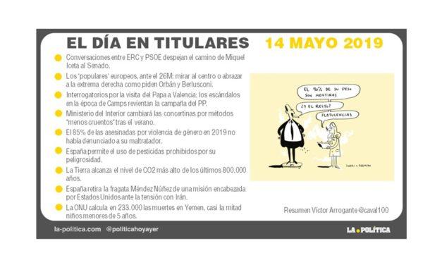 14 mayo – 2019 El Día en Titulares