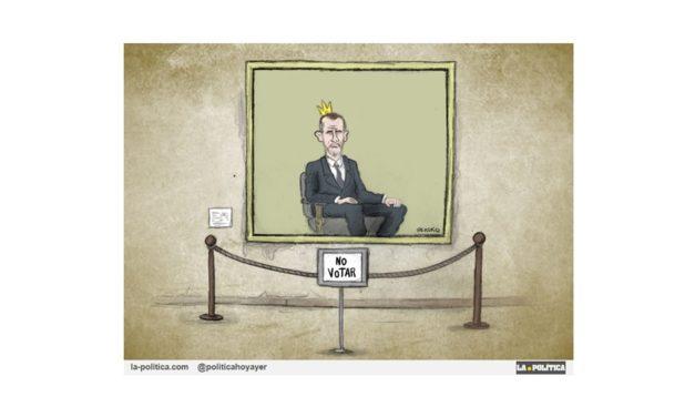 """""""No votar"""" y """"No juzgar"""" habría que añadir a la """"inviolable"""" obra pictórica de nuestro Jefe de Estado."""