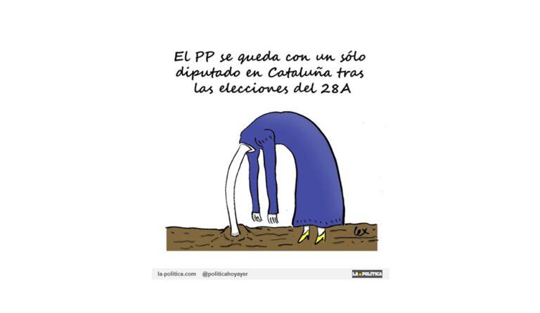 El PP se queda sin ningún dirigente catalán en el Congreso. La marquesa de Casa Fuente, Cayetana Álvarez de Toledo será la representante del PP catalán Viñeta Lex Artículo Simone Renn