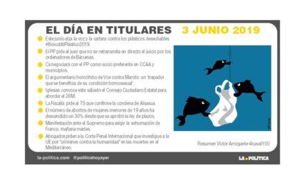 3 de junio 2019 – El Día en Titulares