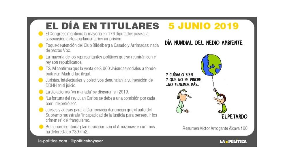 5 de junio 2019 – El Día en Titulares