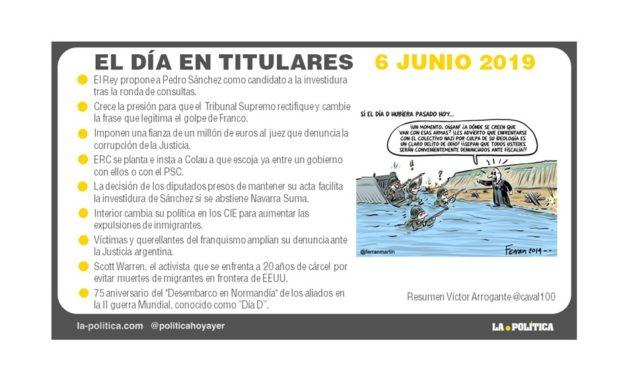 6 de junio 2019 – El Día en Titulares