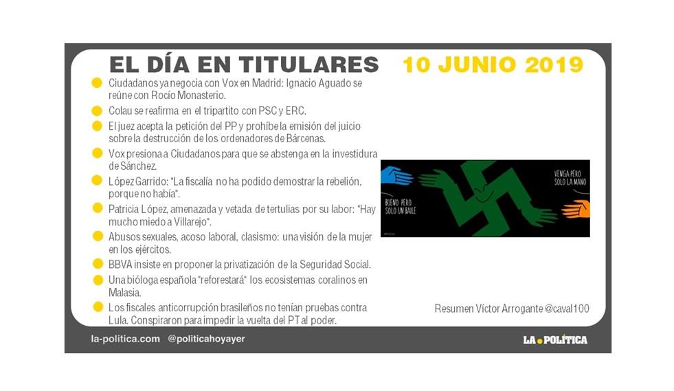 10 de junio 2019 – El Día en Titulares