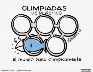 Una semana sin plástico para iniciar buenos hábitos y salvarnos #BoicotAlPlastico2019 ¿Te apuntas? Viñeta El Petardo Artículo Simone Renn
