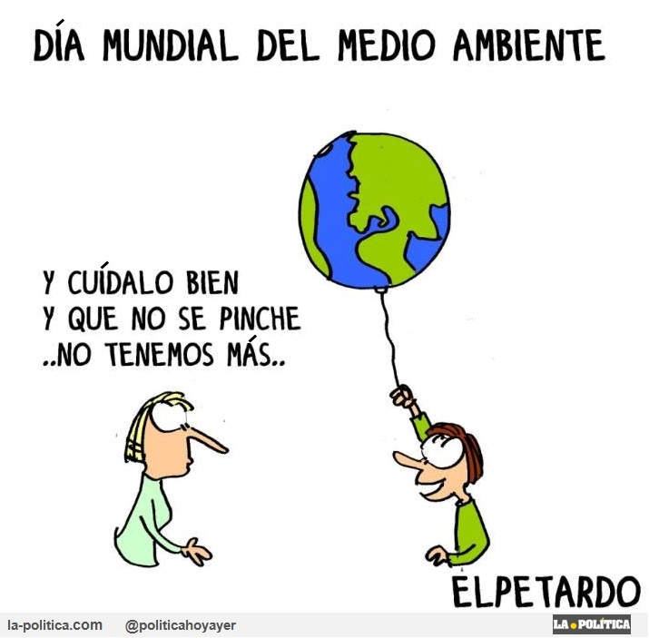 Viñeta de El Petardo - Día Mundial del Medioambiente