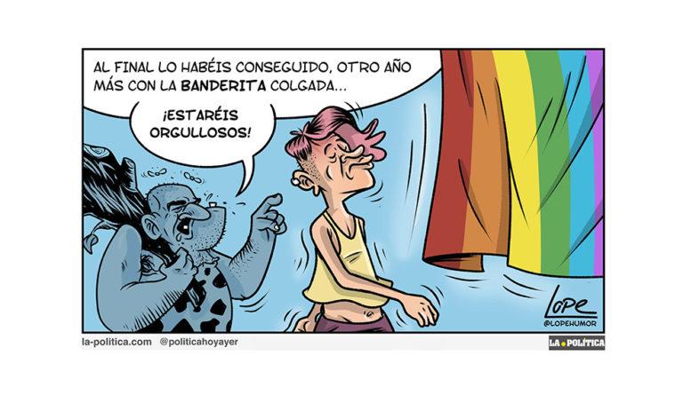 """""""Orgullosos"""" - Viñeta de Lope"""