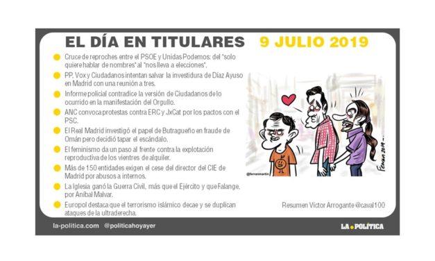 9 julio de 2019 – El Día en Titulares