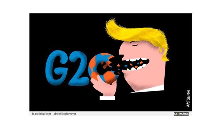 «G-20: el problema es EEUU» Viñeta Artsenal Artículo Doctor Kolimari