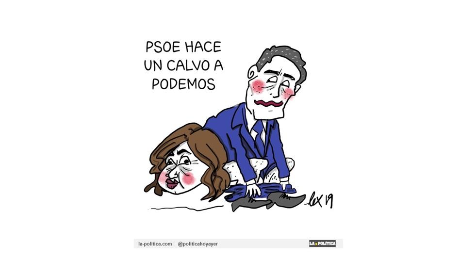 """El PSOE enardecido hace un """"calvo"""" a Podemos llevado por un CIS desmesurado"""