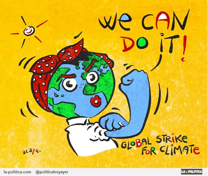 We can do it! Global Strike For Clamete (Viñeta de Acapu)