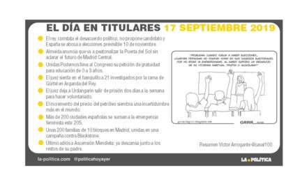 17 de septiembre de 2019 – El Día en Titulares
