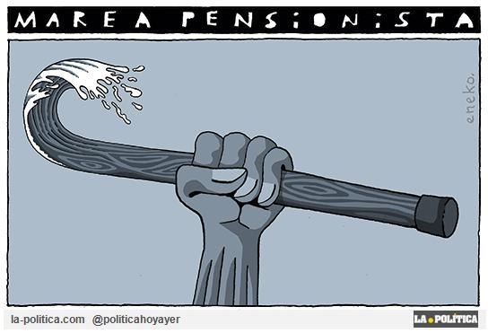 Marea Pensionista (Viñeta de Eneko)