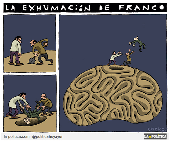 La exhumación de Franco (Viñeta de Eneko)