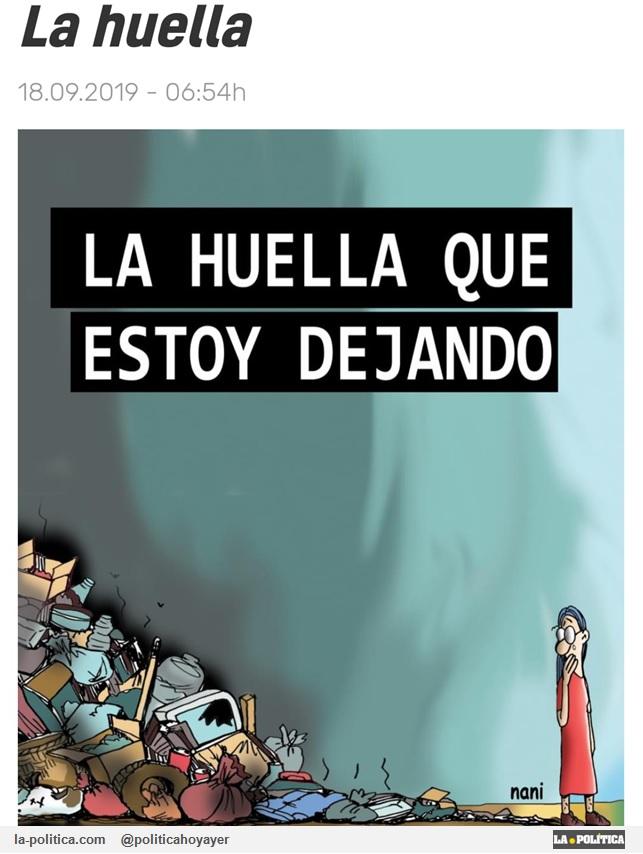 La huella 18-09-2019 - 06:45h. LA HUELLA QUE ESTOY DEJANDO. (Viñeta de Nani)