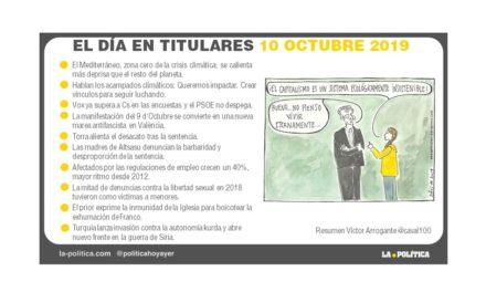 10 de octubre de 2019 – El Día en Titulares