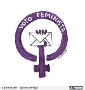 Voto Feminista. Viñeta Elkoko