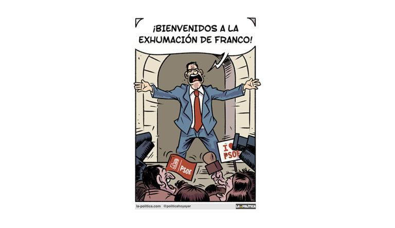 «24 de octubre de 2019, exhumación del dictador Francisco Franco. La otra historia.» Te invitamos a ver completa la #TiraCómica de Lope que narra la exhumación de Franco a la que pertenece esta viñeta