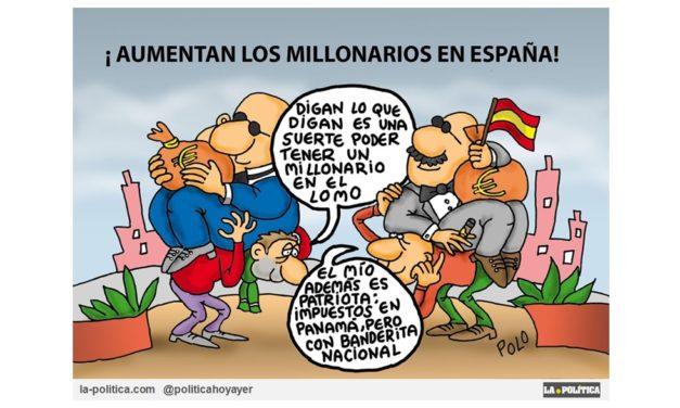 En el mundo se triplican los millonarios y en España se quintuplican, mientras somos el tercer país con los trabajadores más pobres de la Unión Europea