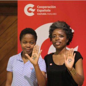 """Melibea """"Mujer Ideal 2019 en Guinea Ecuatorial"""" y Gema Jones Ndjoli."""