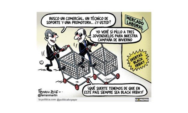 El Black Friday tiene su cara negra: precariedad de contratos y consumo no sostenible