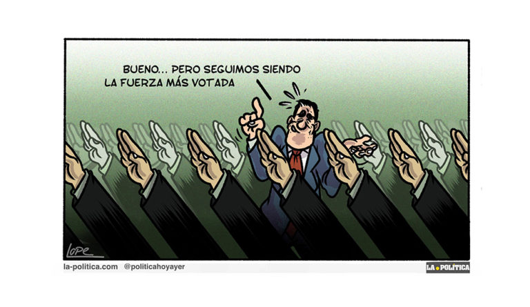 «Y Pedro Sánchez ganó las elecciones, perdiendo» Viñeta Lope Artículo Víctor Arrogante