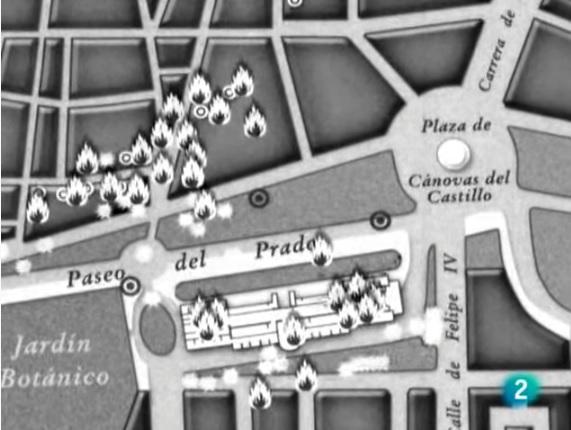 Bombardeo del Museo del Prado el 16 de noviembre de 1936 por las tropas rebeldes fascistas..