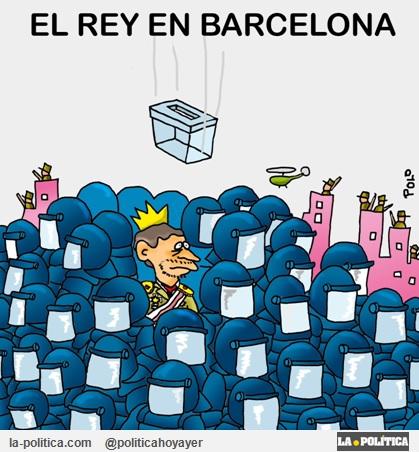 EL REY EN BARCELONA (Viñeta de Polo)