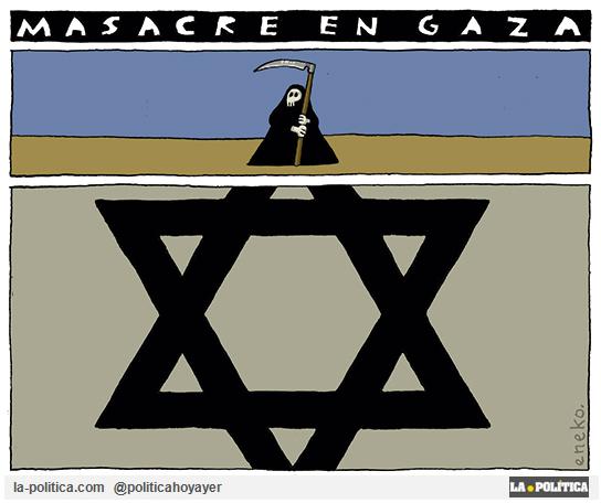 Masacre en Gaza. (Viñeta de Eneko)