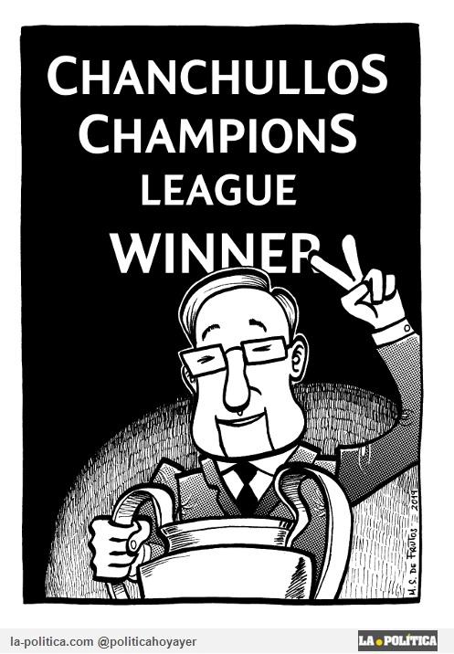 Chanchullos Cahmpions League Winner. (Viñeta de Manuel S. de Frutos)