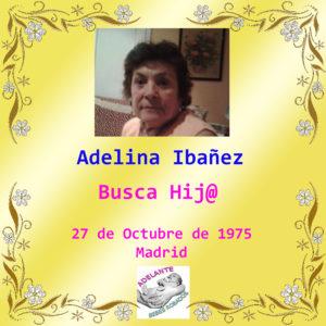 Ficha que Adelina se hizo para encontrar a su hijo.