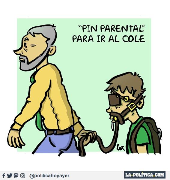 """PIN PARENTAL"" PARA IR AL COLE (Viñeta de Lex)"