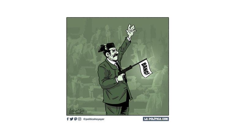 Febrero: juicio de Campamento; un carnaval de contradicciones (2) Viñeta Lope Artículo Víctor Arrogante