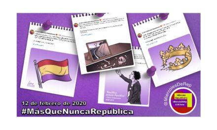 12 de febrero de 2020. La selección de Miércoles Republicano #MásQueNuncaRepública