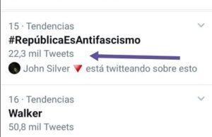 Tuits del HT #RepúblicaEsAntifascismo