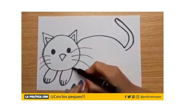 Aprendiendo a dibujar: un gato
