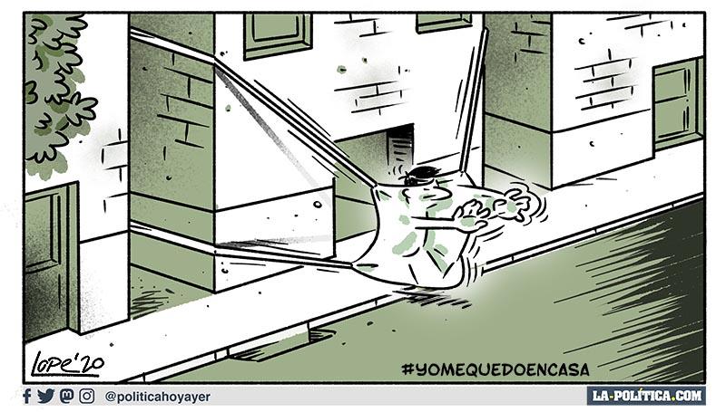 #YoMeQuedoEnCasa (Viñeta de Lope)