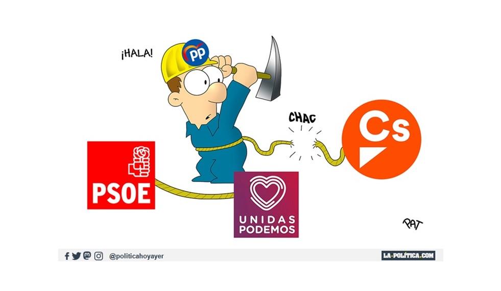 - ¡Hala! PP-Cs-PSOE-UNIDAS PODEMOS (Viñeta de Pat)