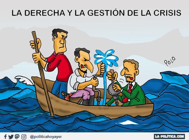 LA DERECHA Y LA GESTIÓN DE LA CRISIS (Viñeta de Polo)