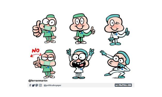 Estrenamos canal de Telegram con los stickers sanitarios de Ferran Martín