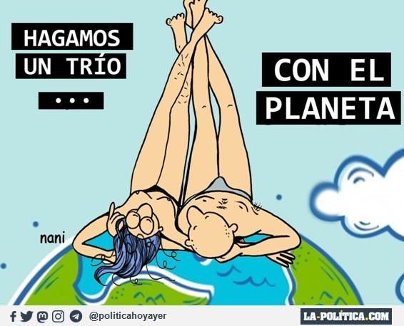 - Hagamos un trío... con el planeta (Viñeta de Nani)