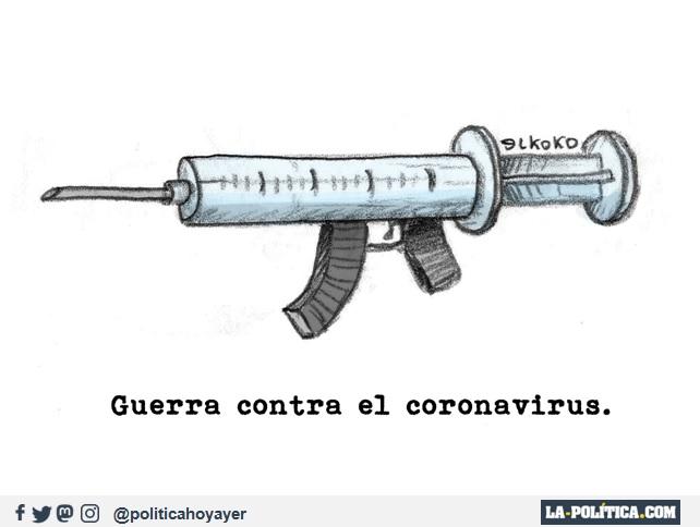 GUERRA CONTRA EL CORONAVIRUS (Viñeta de Elkoko)